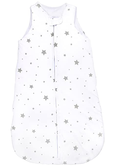 Baby Wearable Blanket- Sleep Bag Winter Weight Grey Stars for Baby