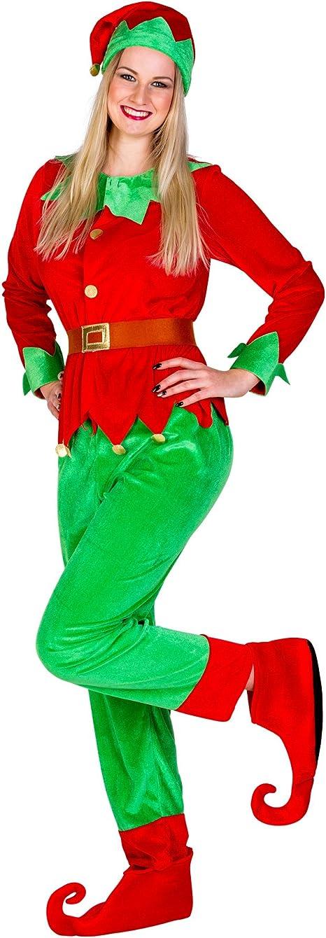 TecTake dressforfun Disfraz de Elfo navideño para Mujer (XXL | no ...