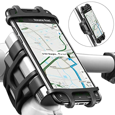 Bike Motorcycle Phone Mount, ANCwear 5-in-1 Portable Phone Holder, Adjustable Silicon Universal Fit Handlebars and Smart Phones Like iPhone Xs Max R X 8 Plus 7 Samsung [5Bkhe0111570]