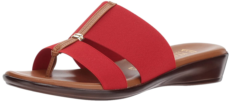 ITALIAN Shoemakers Women's Milla Slide Sandal B079HHDCCT 7 M US|Red