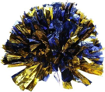 2PCS Handheld Pom Cheerleader Cheerleading Dance Party Sport Club Poms 6 Colors