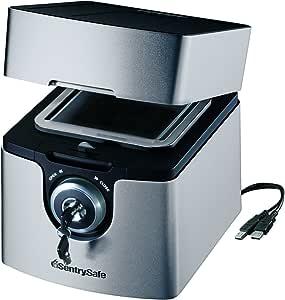 SentrySafe QA0121 Fire-Safe Waterproof Data Storage Chest, Grey