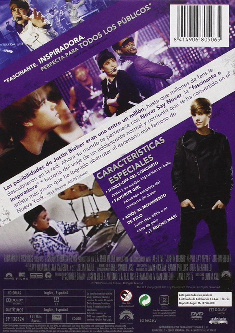 Amazon.com: Justin Bieber: Never Say Never (Import Movie ...
