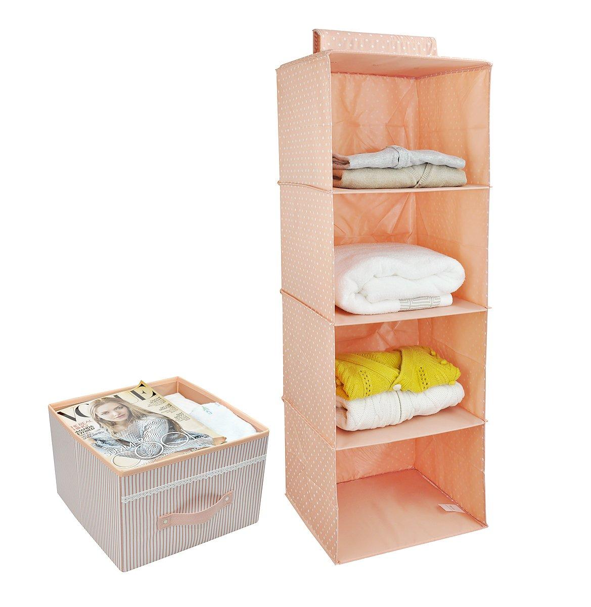 Ultra gruesa Junta de madera interior rosa 4 plataforma de nivel Suspendido en el armario de almacenamiento duradero estanter/ías Accesorios Organizador de almacenamiento