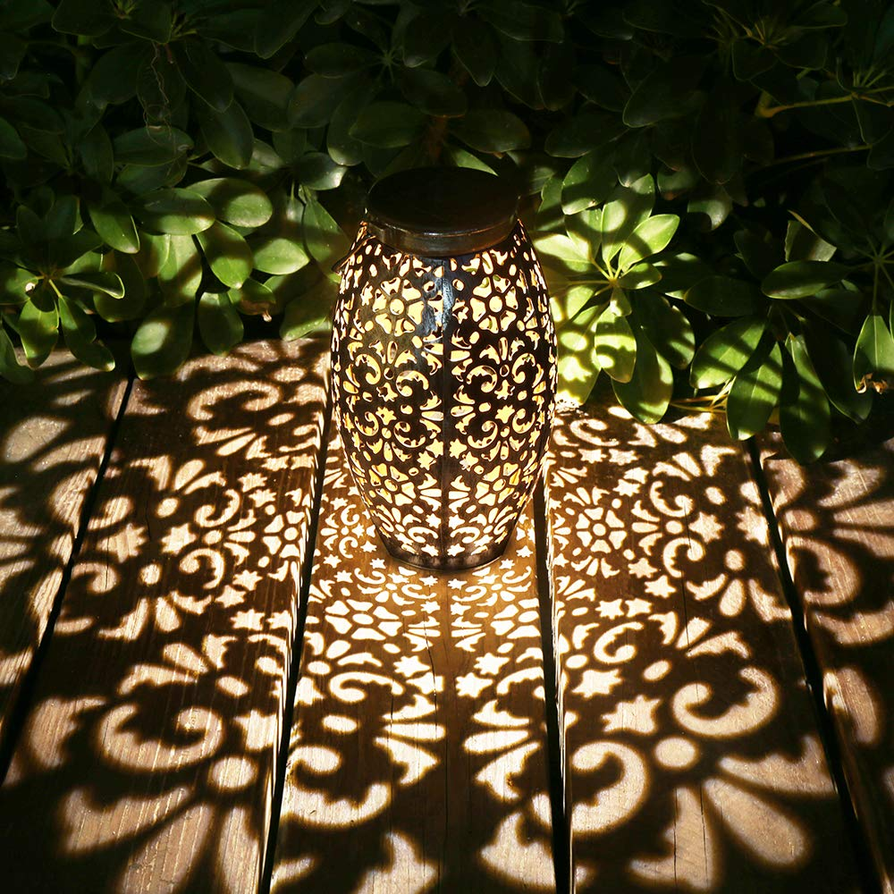 Silver Solar Power Lantern Lights
