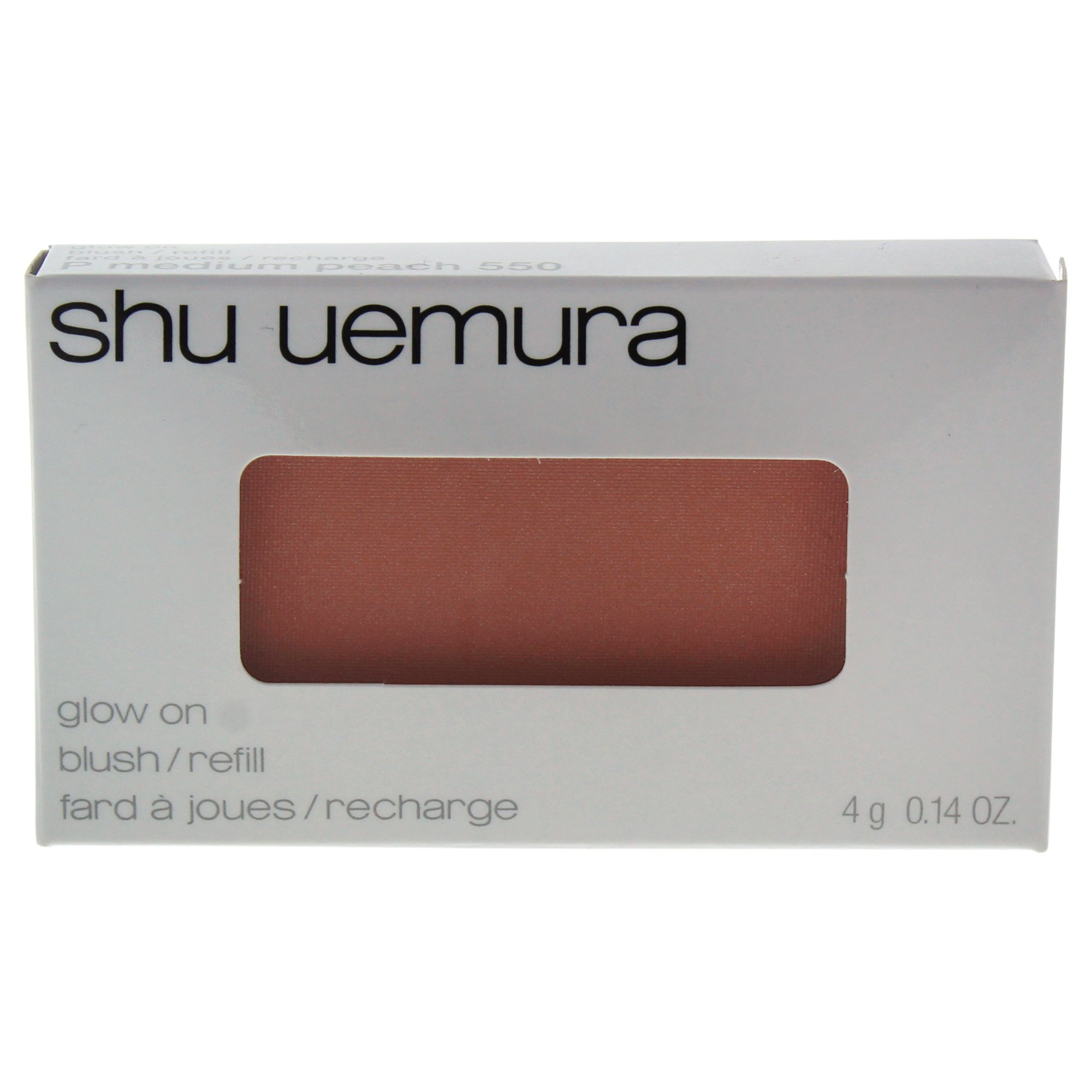 Shu Uemura Glow On Blush for Women, 550 P Medium Peach (refill), 0.14 Ounce