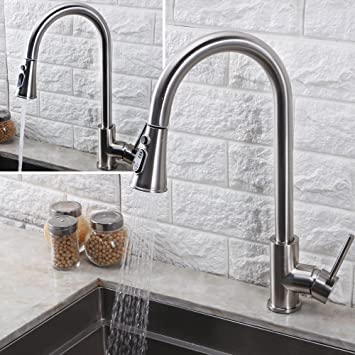 bronze rubbed down single faucet hole royden side contemporary kitchen with lever pull oil