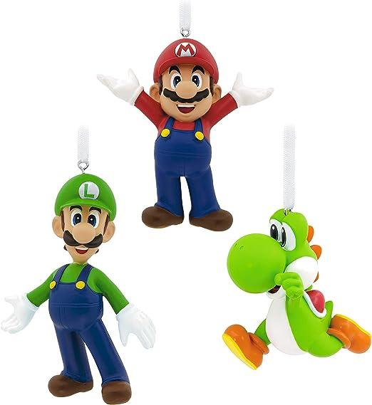 Amazon.com: Hallmark Christmas Ornaments, Nintendo Mario, Luigi