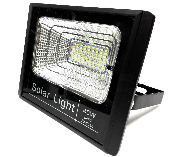 Bed Store® Faro faretto a led con pannello solare da esterno IP67 con telecomando con timer 10w 25w 40w 60w 100w 200w (40)