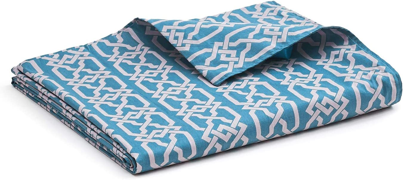 YnM Cotton Duvet Cover for Weighted Blankets (Infinite, 48''x72'')