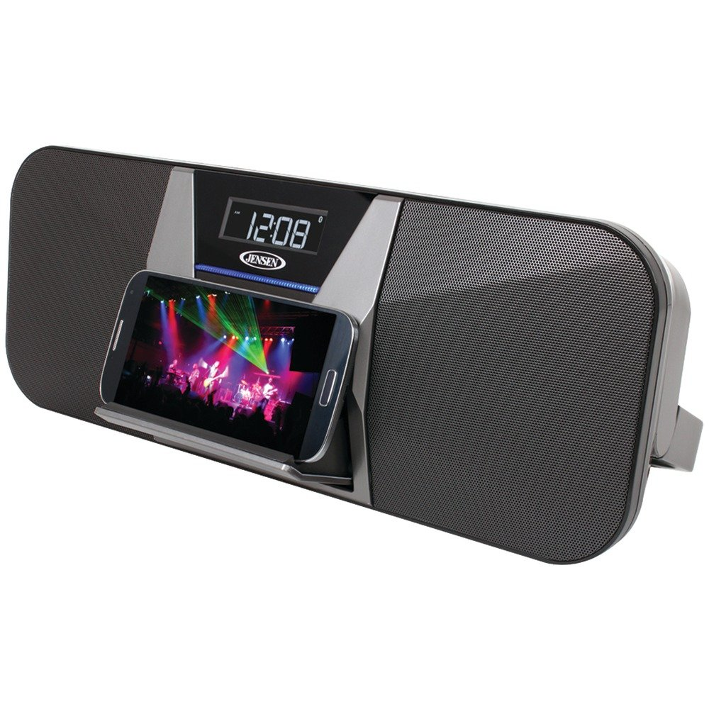Amazon.com: Jensen JBD 400 Portable Bluetooth Speaker/FM Receiver With  Charging For Smartphones: Home Audio U0026 Theater