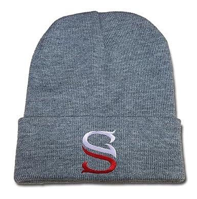 XIDA Sergio Garcia Logo Beanie Fashion Unisex Embroidery Beanies Skullies  Knitted Hats Skull Caps Grey f0bd0825a0de