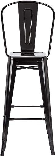 Pioneer Square Harris 30-Inch Bar-Height Metal Stool