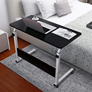 Us Fast Shipment Modern Computer Desk Study Writing Table for Students Adults Home Office,80X40Cm Sturdy Wooden Desktop Metal Standing Desk,Side Table,Back to School Desks