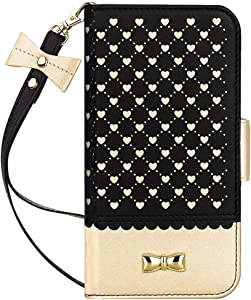 Jasilon iPhone XR Case Cover 6.1'' 2018, [Deluxe Love] Premium Leather Wallet case with [Card Holder, Strap, Kickstand, Mirror], Flip Folio iPhone XR Phone Case for Women-Black