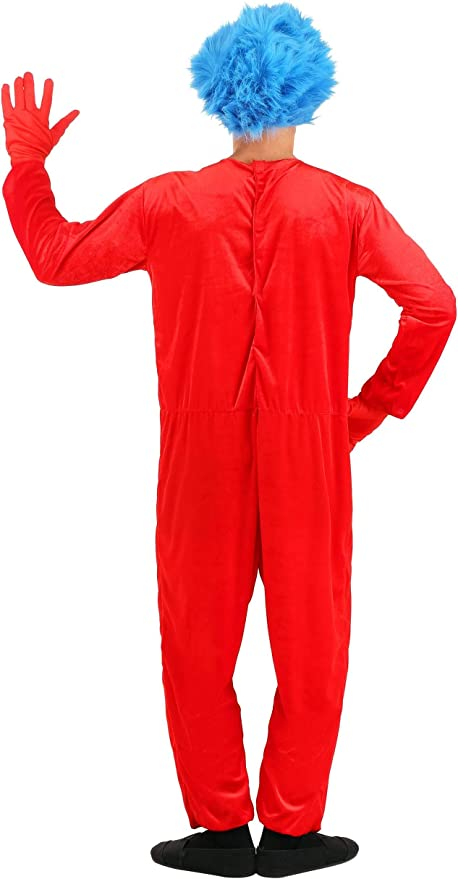 Dr Seuss Thing 1 or Thing 2 Deluxe Adult Costume Elope