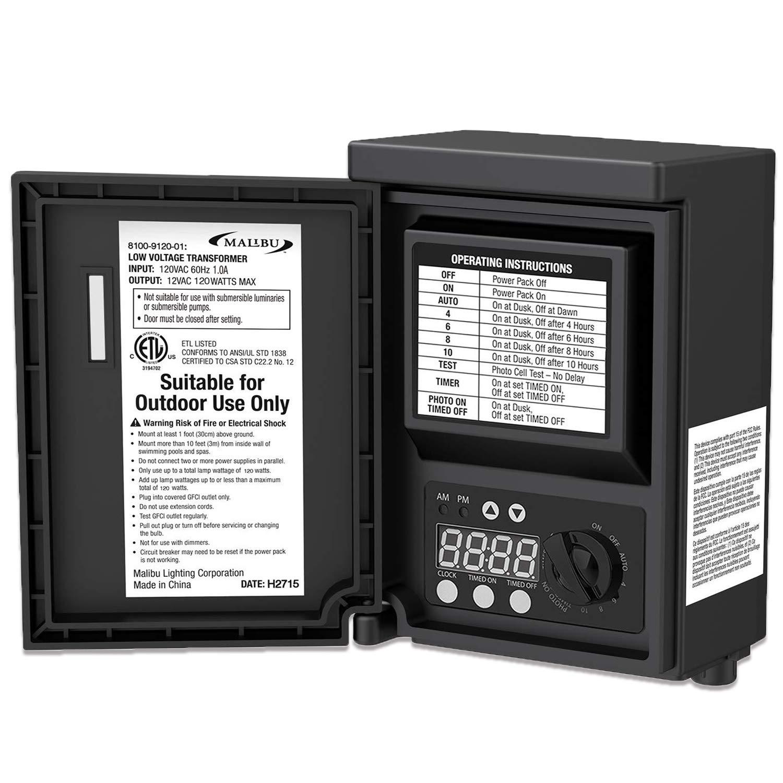Malibu 120 watt Outdoor 12V Low Voltage Transformer for Landscape Light 8100-9120-01 by Malibu C
