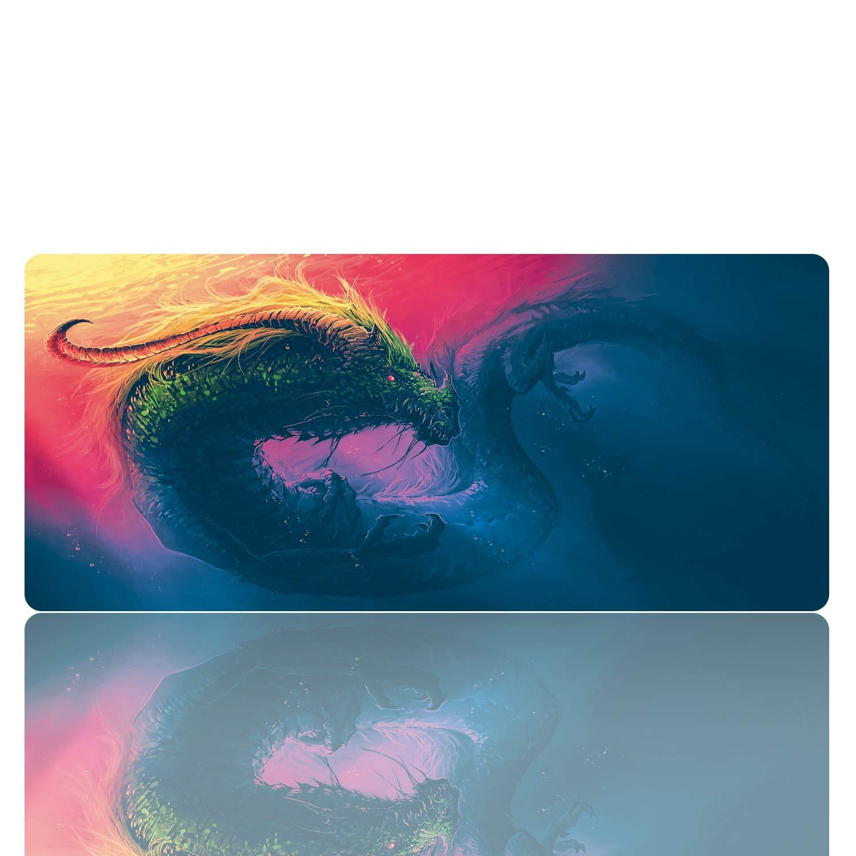 KINPLE XXL 拡張大型ゲーム用マウスパッド ノンスリップ 防水 ゴム布 コンピュータゲームマウスマット(35.4×15.75×0.1インチ) B07M5VSPLN 35.4×15.75inch(u14)  35.4×15.75inch(u14)