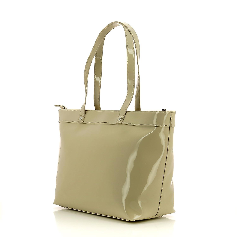 9b2c45029a Armani Jeans Borsa Shopping Donna 922505 Vernice beige (00555): Amazon.it:  Scarpe e borse. Caricamento dell'immagine in corso ...