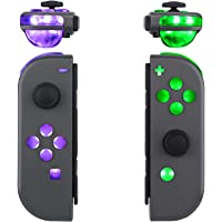 eXtremeRate 7 Colors 9 Modes Button Control NS Joycon DFS LED Kit for Nintendo Switch, Multi-Colors Luminated ABXY…