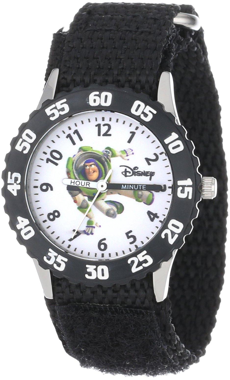 Disney Kids' W000060 Toy Story 3 ''Buzz Lightyear'' Stainless Steel Time Teacher Watch by Disney