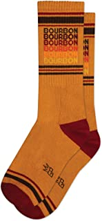 product image for BOURBON Unisex Gym Crew Socks by Gumball Poodle (Made in the USA)