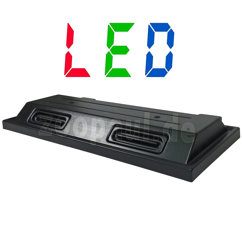 LED 100x40 cm Aquarium Terrarium Abdeckung Beleuchtung schwarz Deckel 100 Lux ZooPaul