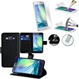 PU Leather Book Wallet Case Cover sm-a300 °F A3 Video Stand for Samsung Galaxy a300fu A3/Duos sm-a300 °F A300G/DS/DS a300h DS A300 M/DS + 1 tempered glass screen protector (Not Suitable for Galaxy A3 (2016)