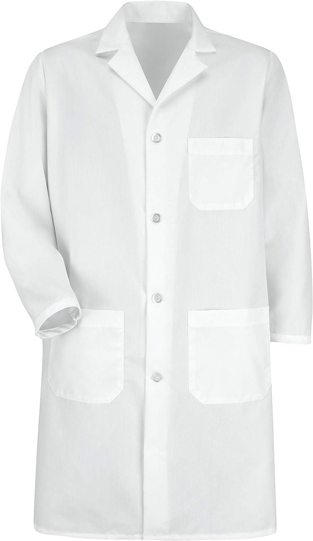 Red Kap Men's Exterior Pocket Lab Coat: Clothing