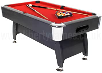 pro american deluxe 6ft american style pool table with red cloth