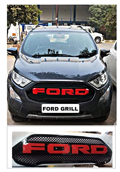 Pr Front Radiator Grille For Ford Ecosport  Front Grill Alpha Letters Red Compatible With Only  Model Amazon In Car Motorbike