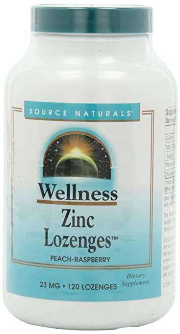 Amazon Com Source Naturals Wellness Zinc Lozenges 23mg 120 Tablets