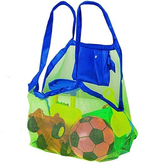 Bramble Set de 2 Bolsas de Malla para la Playa - Perfecta para Juguetes de Niños / Toallas etc - Ideal para Piscina - Bolsas Increíbles para Verano: ...