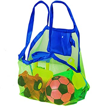Bolsa de Malla para Arena de la Playa - Perfecta para Juguetes de Niños / Toallas