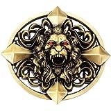 P Prettyia Boucle De Ceinture De Croix De Keltic De Nouveauté 3D Tête De  Lion Western 386f4c55b03