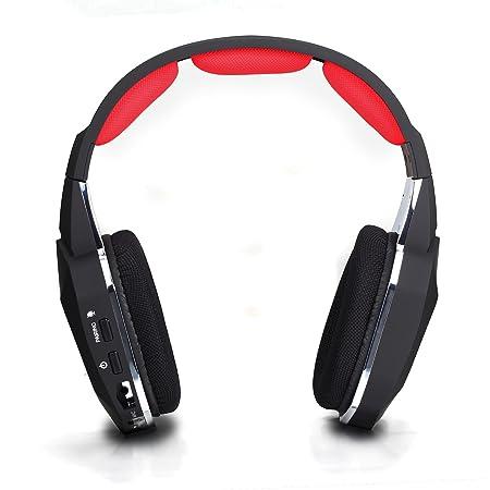 HUHD Hw-399M - Auriculares con fibra óptica, wireless de alta calidad digital de alto rendimiento de 2,4 Ghz, cancelación de ruido Gaming Headset, ...