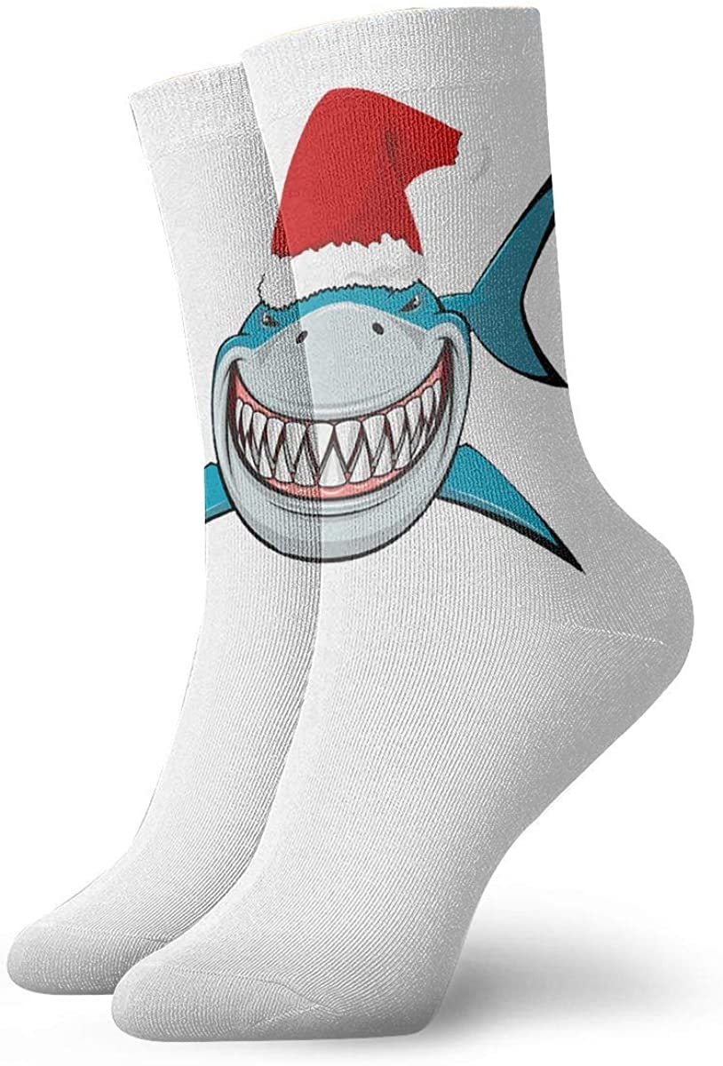 Shark Christmas Socks Womens Comfort Crew Sock Mens Moisture Wicking Crew Sock