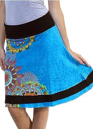 Coton du Monde-Falda Britany 2, Color Azul 45: Amazon.es: Ropa y ...