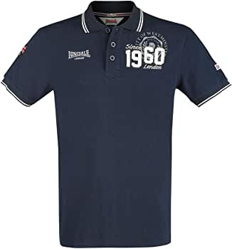 Lonsdale London Fakenham Camisa Polo, Azul Marino Oscuro, Small ...