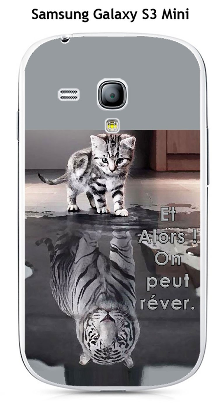 Onozo Carcasa Samsung Galaxy S3 Mini diseño Gato Tigre ...