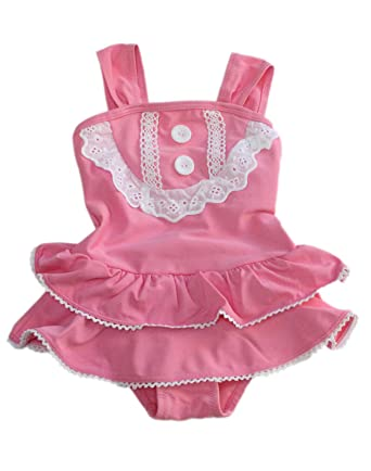 5ec0dc9244 ZaiZaiRaccoon Kids Girls PINK LADY Swimsuit Swimming Costume Age 2 3 4 5 6  7 24 Months: Amazon.co.uk: Clothing