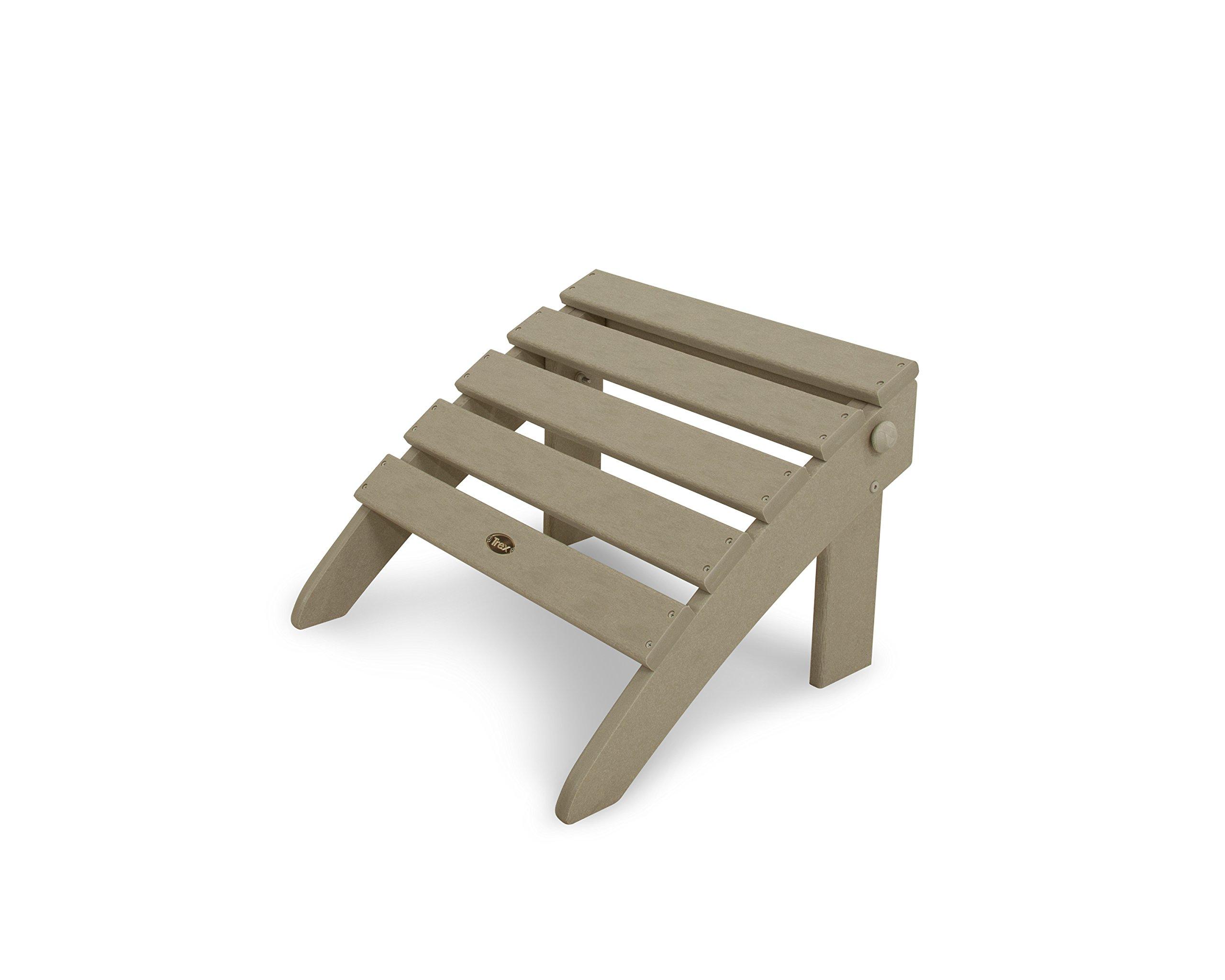 Trex Outdoor Furniture TXO53SC Cape Cod Folding Ottoman, Sand Castle