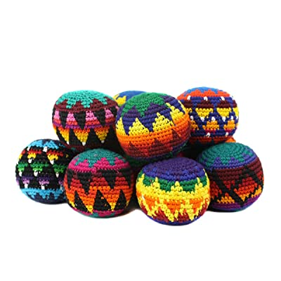Peruvian Arts Hacky Sack Assorted Color- Set of 3: Sports & Outdoors