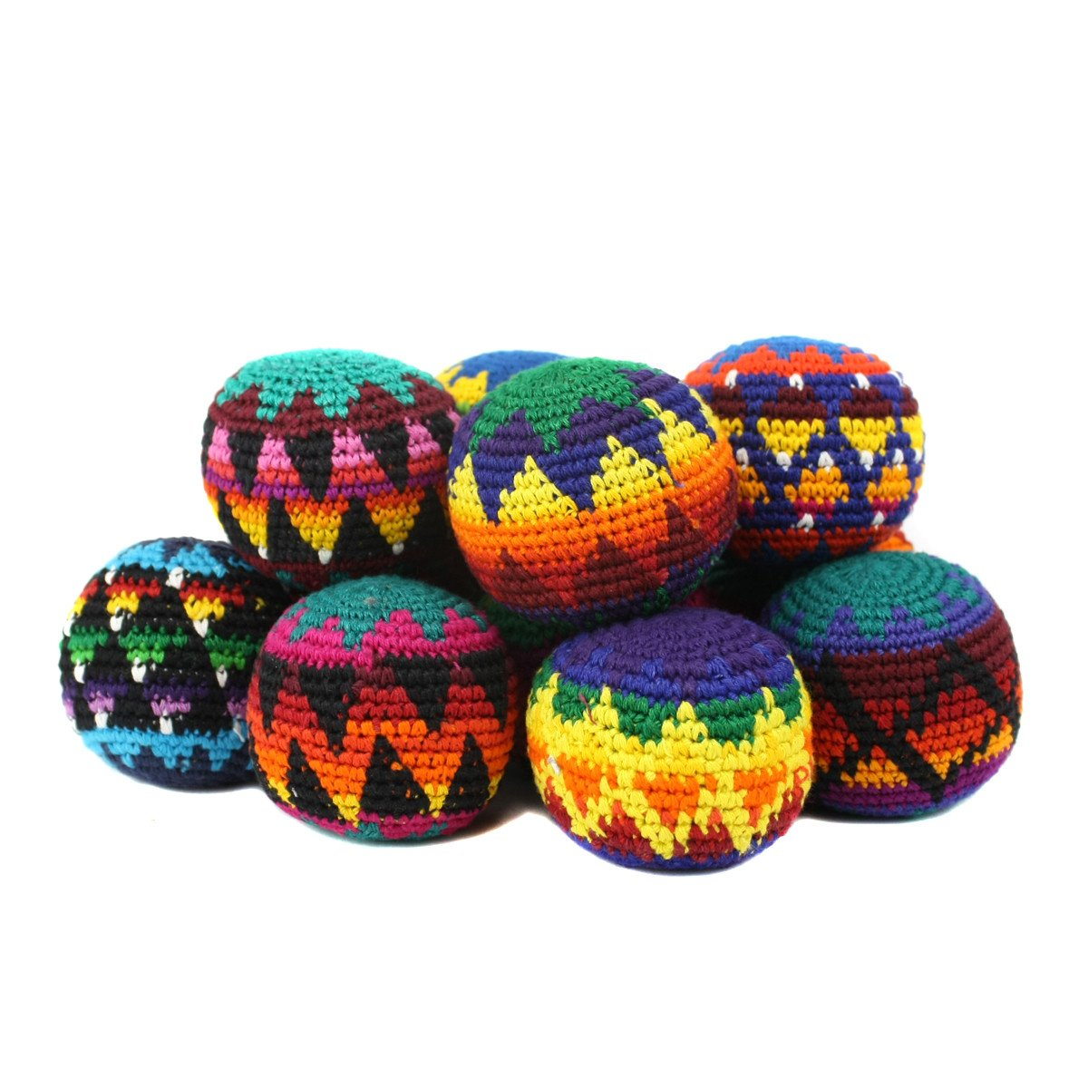 Peruvian Arts Hacky Sack Assorted Color- Set of 10
