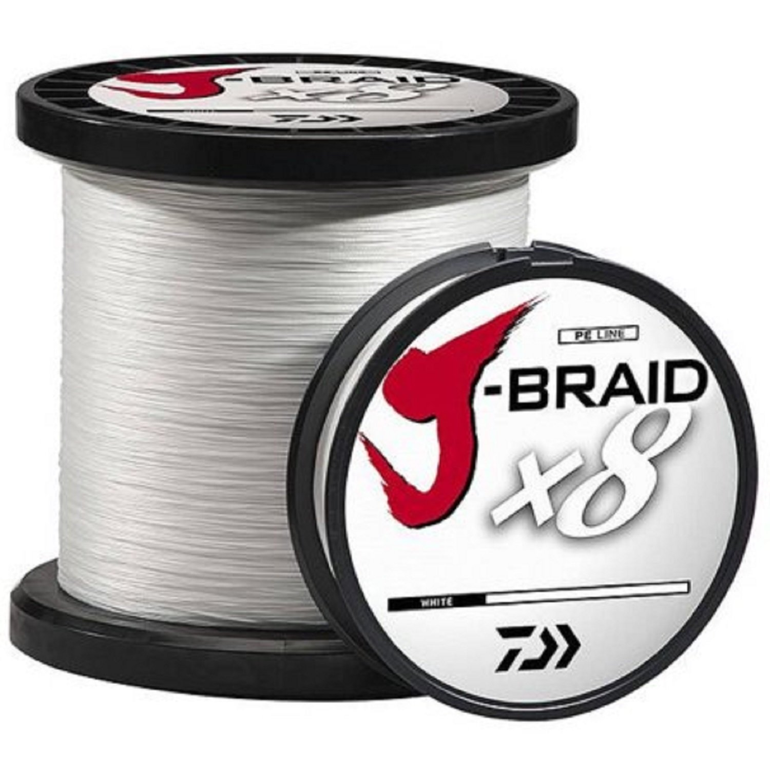 Daiwa J-Braidx8 JB8U150-2500WH 150 lbs Test, White, 2500 Meters/2735 Yards by Daiwa