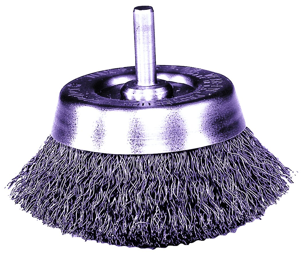 """6x  3//4/"""" Crimped Wire End Brush Carbon Steel with 1//4/"""" Shank Die Grinder or dril"""