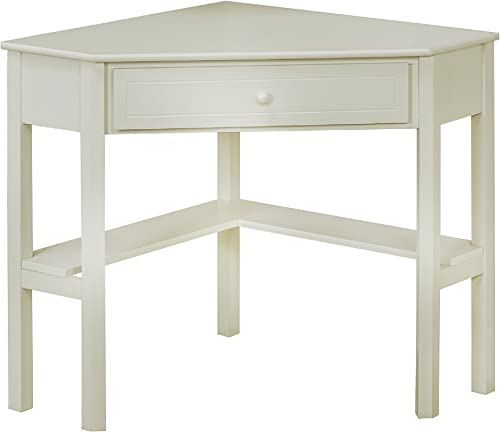 Target Marketing Systems with One Drawer and One Storage Shelf, Antique White Finish