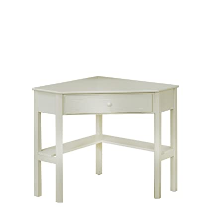 Ordinaire Target Marketing Systems Wood Corner Desk With One Drawer And One Storage  Shelf, Antique White