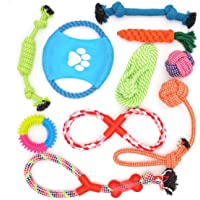 Dog Rope Toys 10 Pack Pet Toy Set Puppy Teething Chew Rope Tug Assortment for Small Medium Large Dogs Breeds