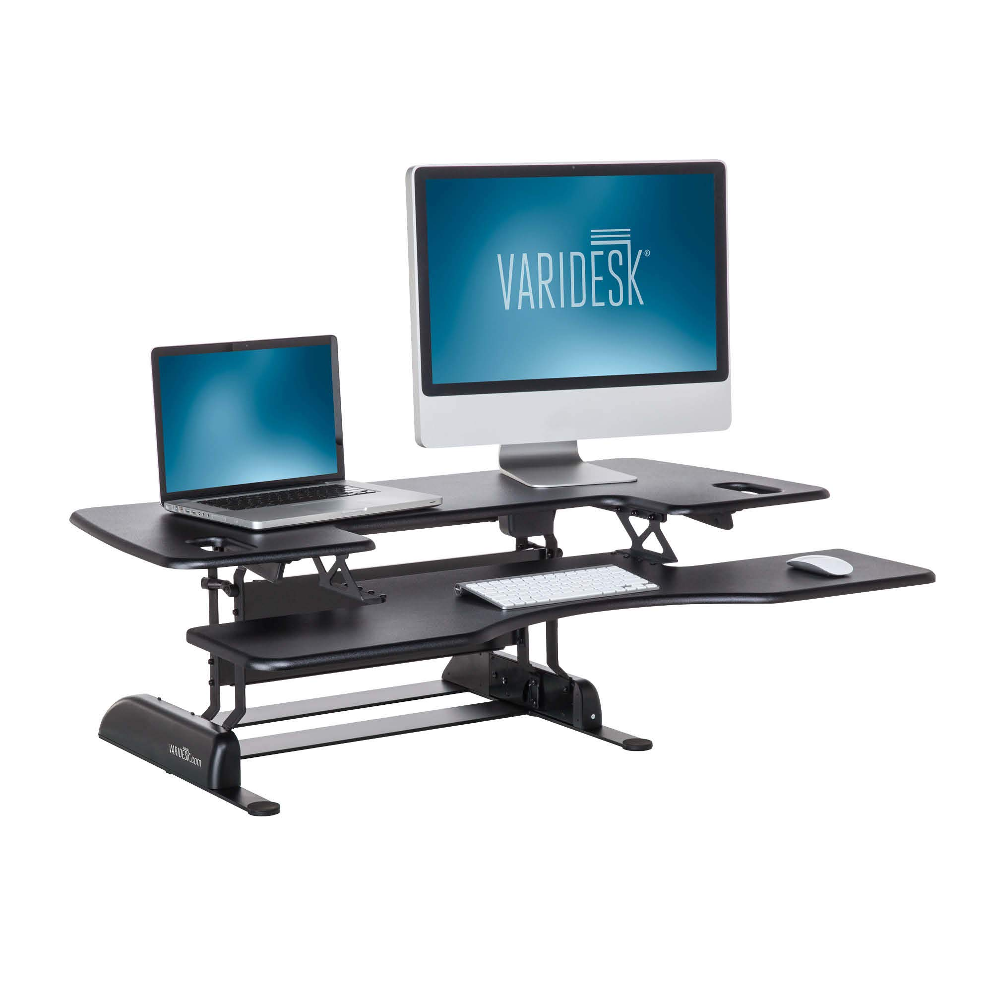 VARIDESK - Height Adjustable Standing Desk Converter - ProPlus 48 - Stand Up Desk for Dual Monitors - Black by VARIDESK